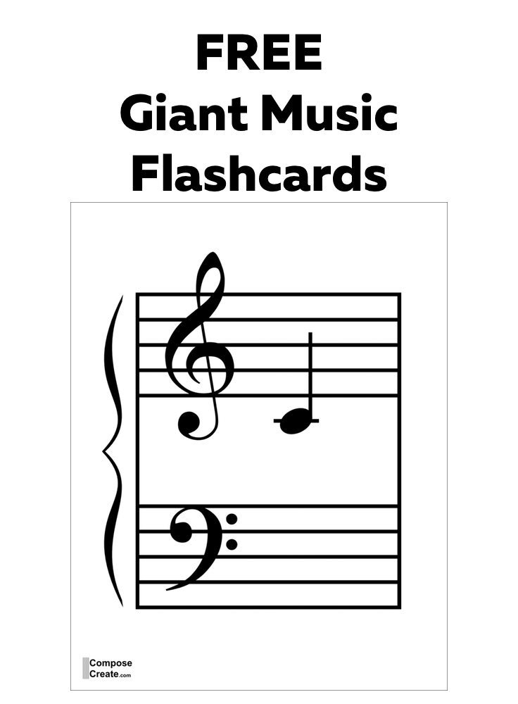 Free giant music flashcards that will work great for the classroom | composecreate.com
