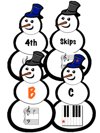 FREE snowmen flashcards to review note names, white keys, intervals and more. | composecreate.com