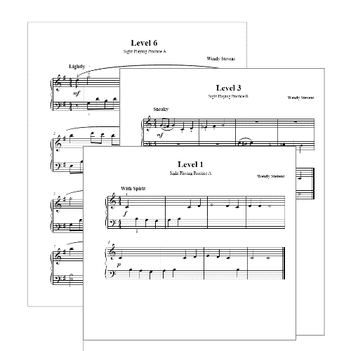 Sight reading practice pieces from ComposeCreate.com