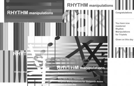 Rhythm Manipulations Certificates - the 2nd book in the reproducible Rhythm Explorations Series by Wendy Stevens from composecreate.com