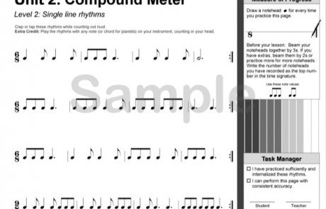 Rhythm Manipulations - the 2nd book in the reproducible Rhythm Explorations Series by Wendy Stevens from composecreate.com