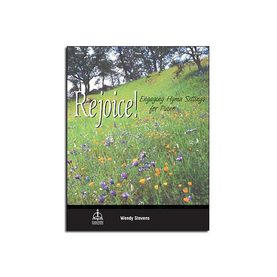 Rejoice! Engaging hymn setting for piano