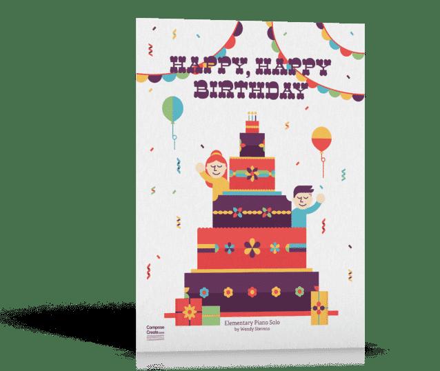 Happy Happy Birthday - piano solo by Wendy Stevens