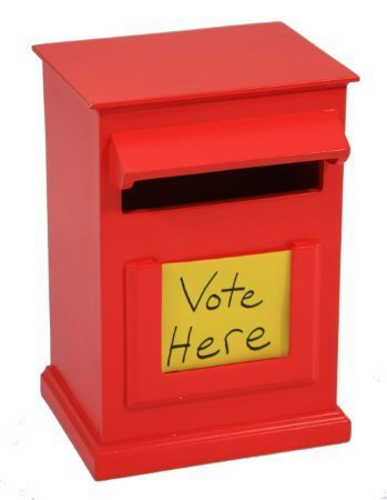 Voting box for piano teac