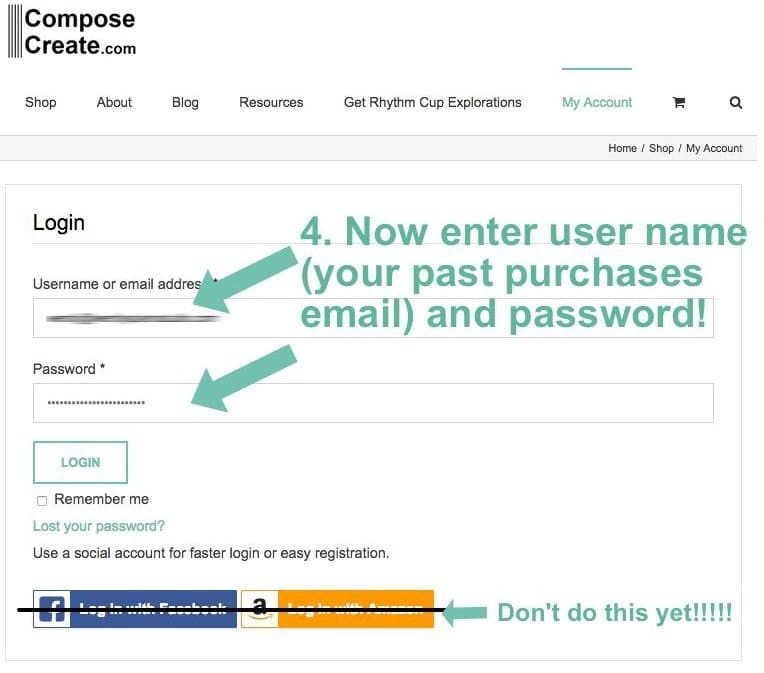 how to log in to ComposeCreate
