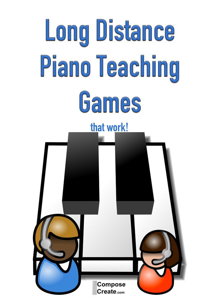 Long distance piano games that work for the phone, Skype, or Facetime!  | composecreate.com