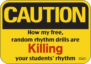Random rhythm drills are killing practice