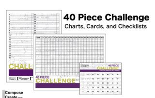 Free 40 piece challenge charts plus tips and tricks for the 30 and 40 piece challenge | composecreate.com