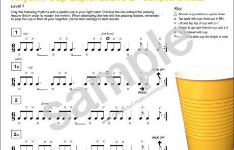 Rhythm Cup Explorations 2 - super fun cup tapping rhythm exercises in compound meter for music students from composecreate.com