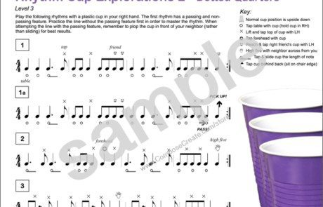 Rhythm Cup Explorations 2 - super fun cup tapping rhythm exercises with dotted quarter notes for music students from composecreate.com
