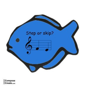 Fishy Flashcards - Fish Music Flashcards - Use as a carnival music game or simply music theory flashcards | composecreate.com