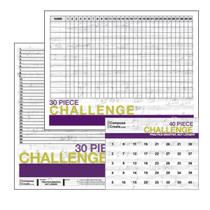 30 piece challenge charts and 40 piece challenge charts - great for motivating students to learn pieces! | composecreate.com