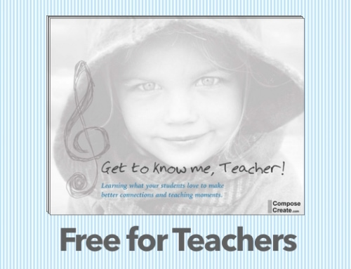 Get To Know Me Teacher, Please?!  FREE Resource for Music Teachers