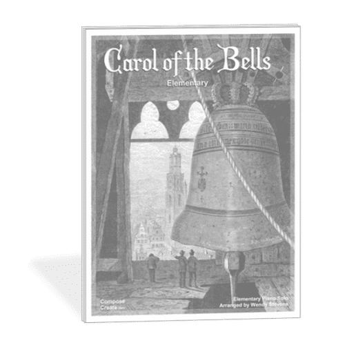 Easy Carol of the Bells Elementary holiday piano music by Wendy Stevens from ComposeCreate.com