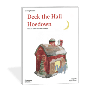 Deck the Hall Hoedown by Wendy Stevens is a great contrast to the If you like this In the Bleak Midwinter piano arrangement