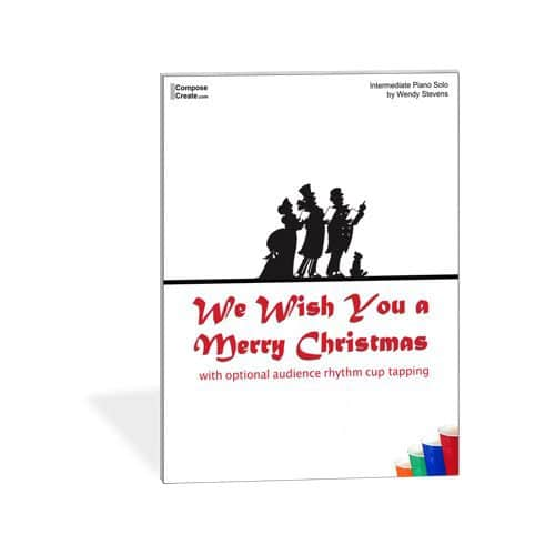 We Wish You a Merry Christmas Intermediate Solo by Wendy Stevens