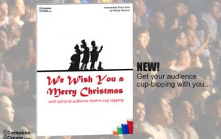 We wish you a merry christmas piano cup tapping piece