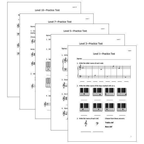 Practice Music Theory Tests - Reproducible for students you directly teach | ComposeCreate.com