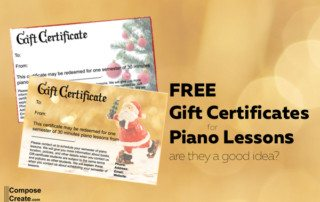 Sample and free download gift certificates for piano lessons