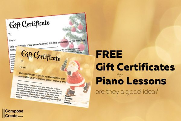 Are Gift Certificates For Piano Lessons A Good Idea