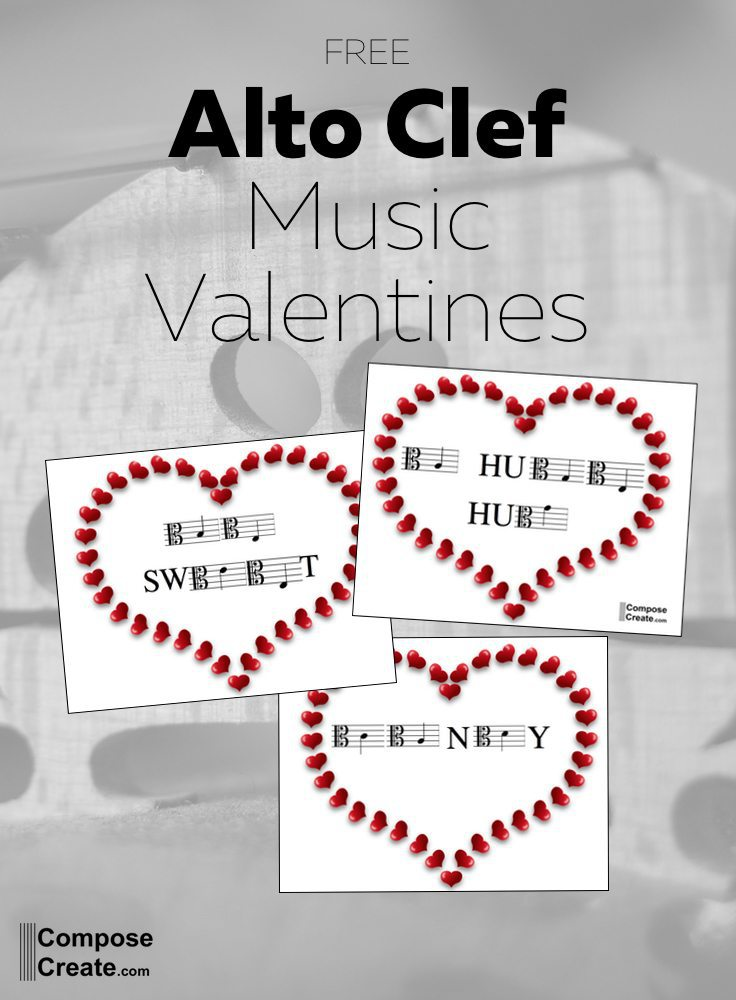 alto clef valentine music notes for viola students and string teachers note naming for alto