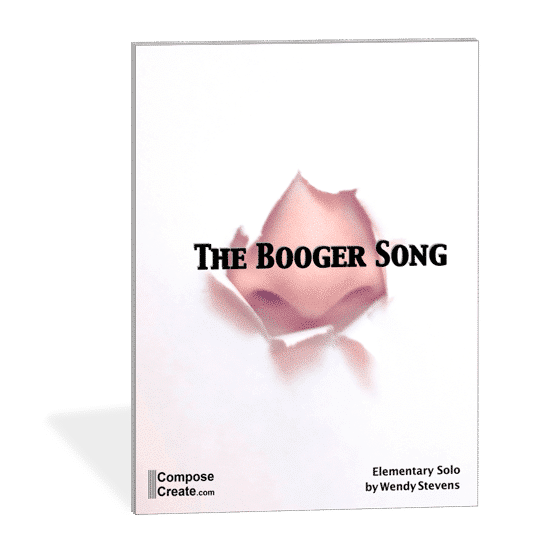 The Booger Song - hilarious elementary piano piece by Wendy Stevens. Boys love it! | composecreate.com