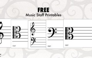 alto clef, tenor clef, printable PDFs from composecreate.com