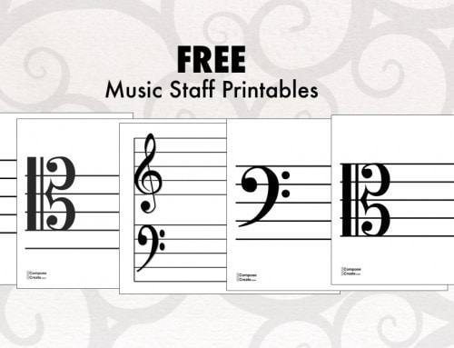 Printable Alto Clef and Tenor Clef Staff for Music Games!