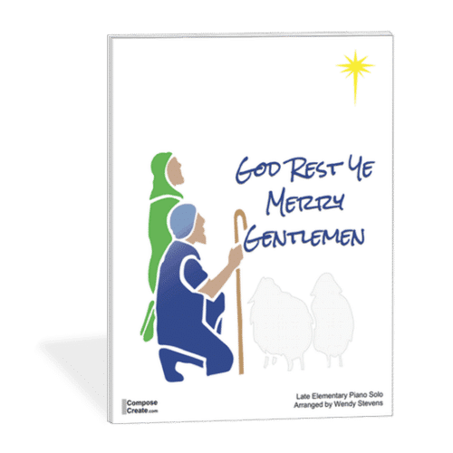 God Rest Ye Merry Gentlemen - Mysterious, melancholy, gorgeous, and easy setting by Wendy Stevens | ComposeCreate.com