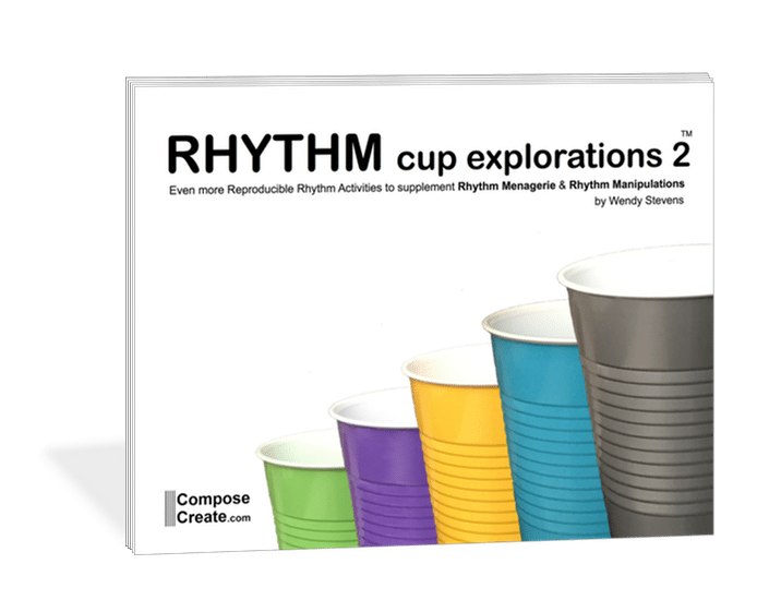 Rhythm Cup Explorations 2 - super fun cup tapping rhythm exercises for music students from composecreate.com