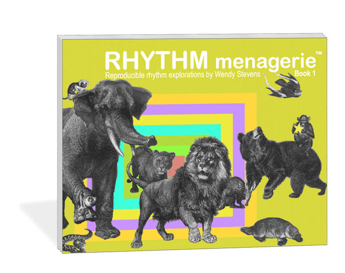 Rhythm Menagerie - a reproducible rhythm training program featuring one handed, two handed, and other interesting rhythm worksheets | composecreate.com