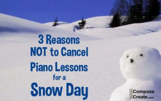 3 Reasons Not to Cancel Piano Lessons for a Snow Day