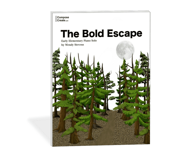 The Bold Escape - another great beginning piano piece like Up Sandy Ripple Road | composecreate.com