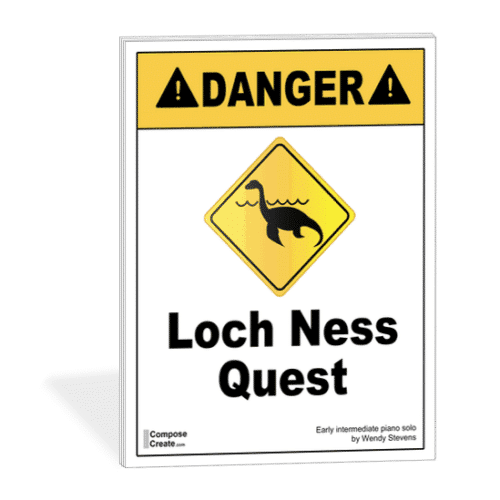 Loch Ness Quest - early intermediate piano solo about the Loch Ness Monster music | ComposeCreate.com