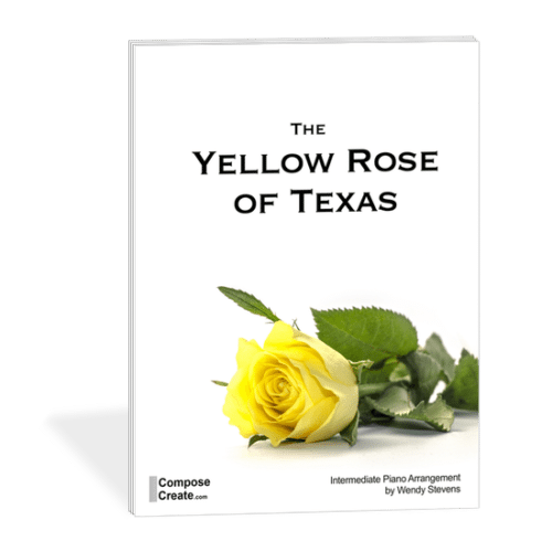 The Yellow Rose of Texas - modern, moving piano arrangement by Wendy Stevens | ComposeCreate.com