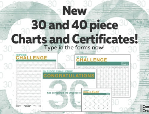 Fresh, New 2016 – 30 Piece Challenge Charts!