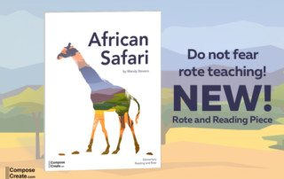 New rote piano piece - African Safari by Wendy Stevens | composecreate.com