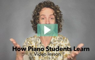 Learn how piano students learn new information - Video lesson from ComposeCreate.com