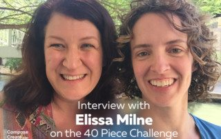 Interview with Elissa Milne on the 40 piece challenge   composecreate.com