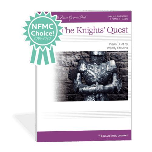 The Knights Quest - An exciting elementary duet about knights going to battle by Wendy Stevens on ComposeCreate.com