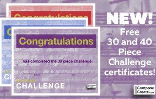 New! 30 piece challenge certificates! | composecreate.com