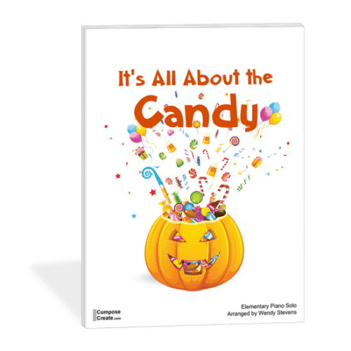 Fall Piano Teaching Ideas - It's About the Candy - an easy, impressive elementary halloween recital music by Wendy Stevens | composecreate.com