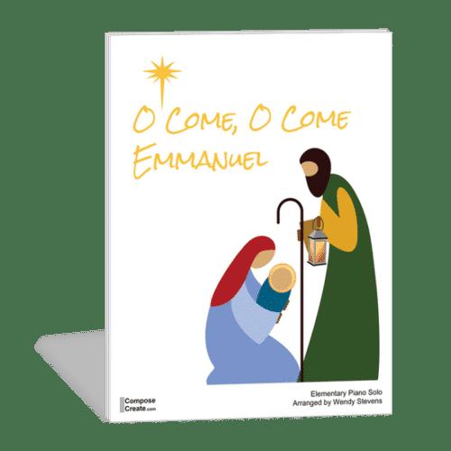An easy O Come O Come Emmanuel piano arrangement by Wendy Stevens   ComposeCreate.com