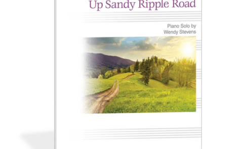Up Sandy Ripple Road - Mature and compelling piano piece for the beginning piano student by Wendy Stevens