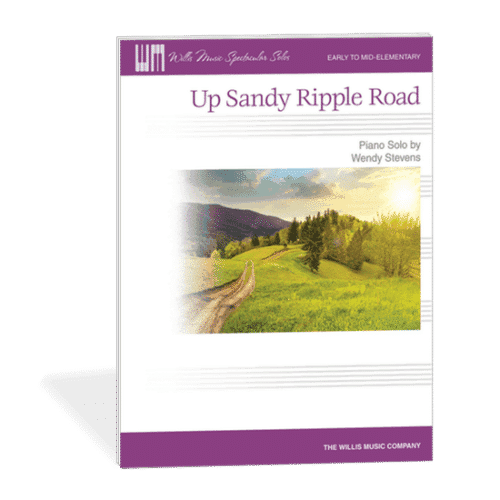 Up Sandy Ripple Road - Mature and compelling piano piece for the beginning piano student by Wendy Stevens on ComposeCreate.com