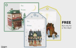 All is Calm holiday gift tags