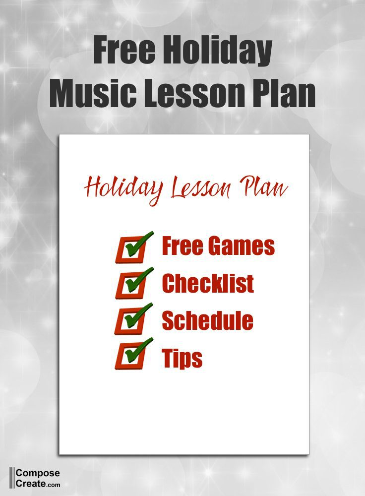Free Holiday Music Lesson Plan   Free Games Included