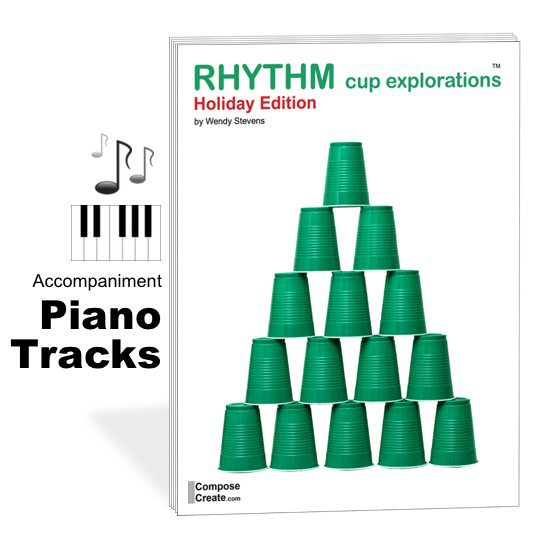 holiday rhythm cup explorations piano tracks
