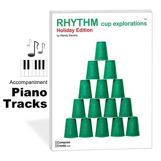 holiday rhythm cup explorations piano tracks