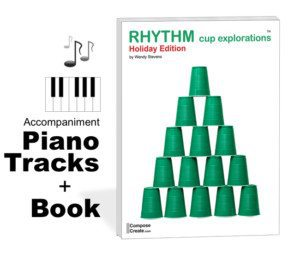 Holiday Rhythm Cup Explorations piano tracks plus book!